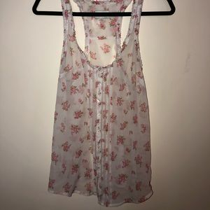 Gilly Hicks sheer floral tank top